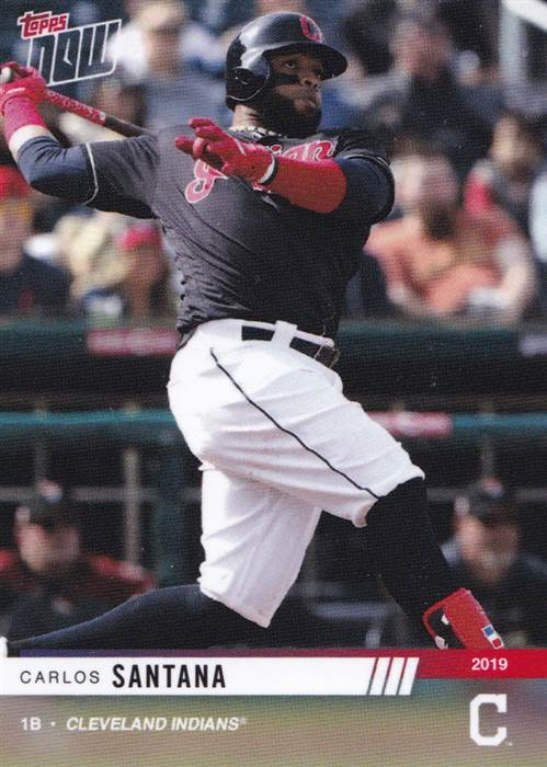 New Arrival 2019 Topps Now Cleveland Indians Opening Day Team Set